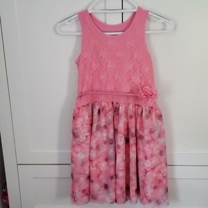 Girls childrens place floral dress with belt